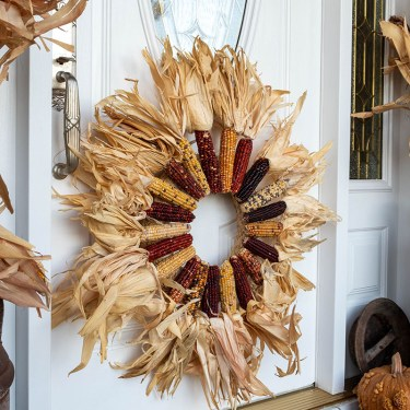 DIY Ornamental Corn Wreath Tutorial