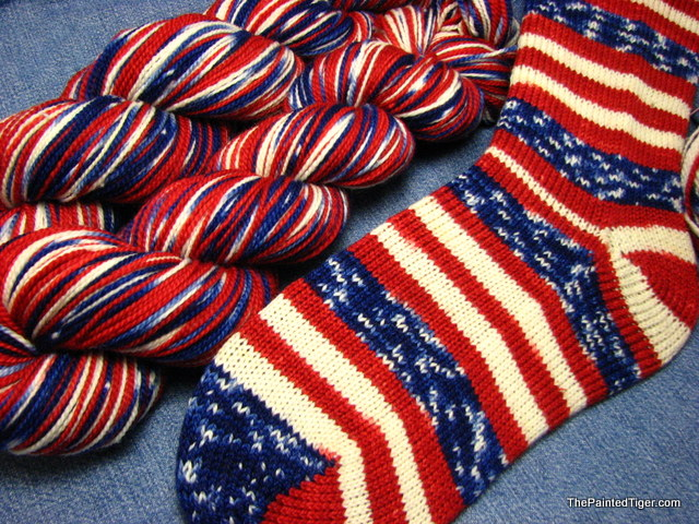 Grand Old Flag Self Striping Patriotic Yarn