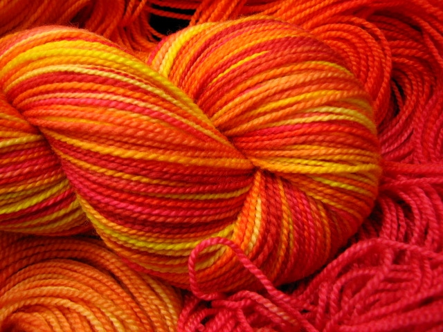 Fall Sunshine Wallpaper Sunshine Bright Variegated Hand Dyed Sock Yarn By The
