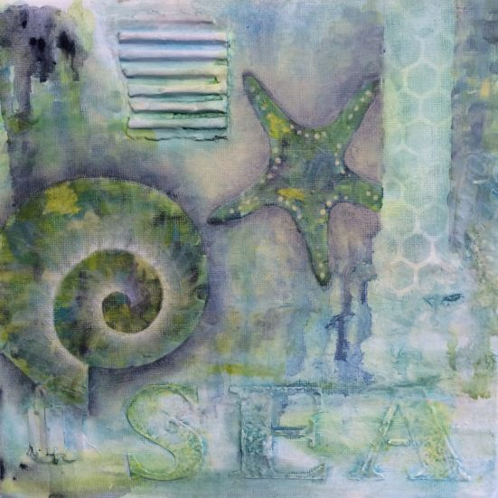 SEA Mixed Media Canvas