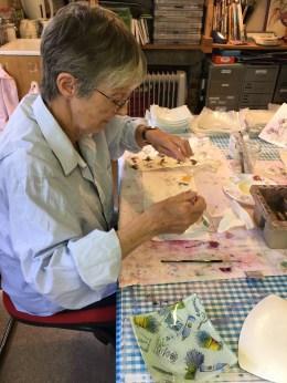 Jenny hard at work!