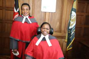 Lady Justice Philomena Mwilu and Lady Justice Martha Karambu Koome