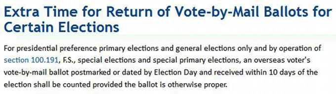 FL rule for overseas voters