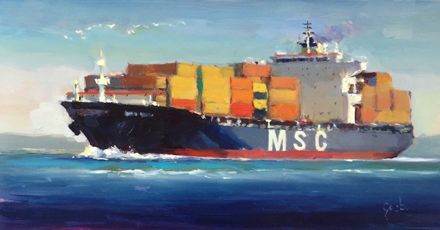 big container ship
