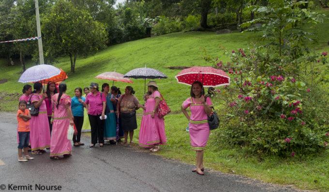 parade in the rain