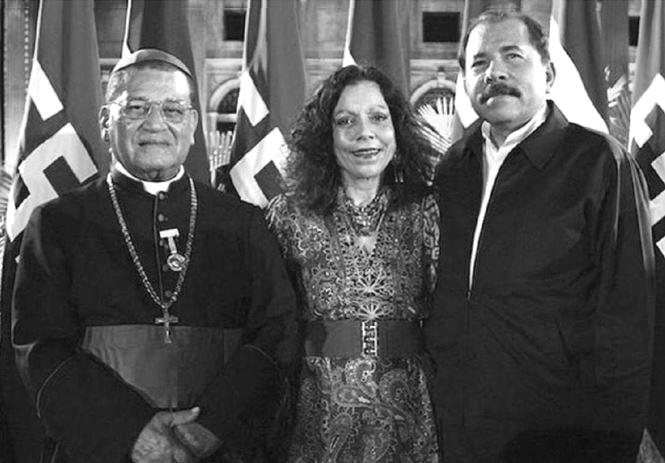 Danny, Rosario & Cardinal Obando