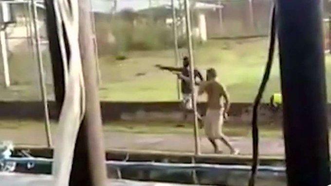 inmates with guns