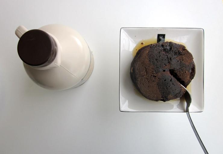 Chocolate cake pancakes