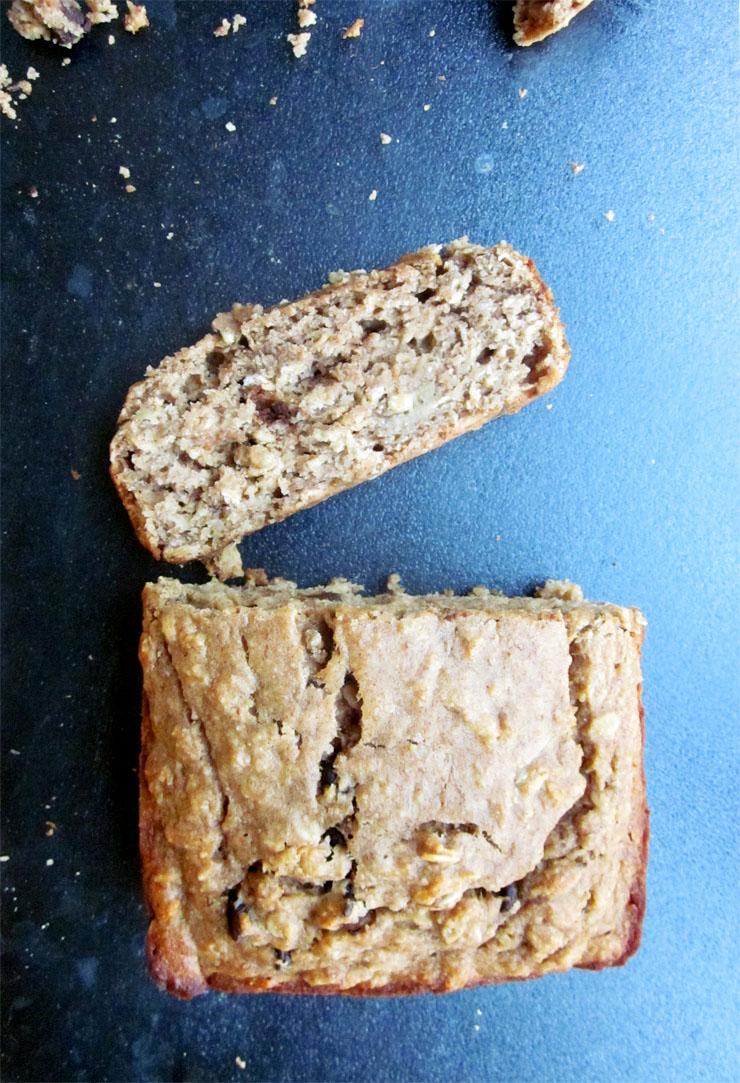 Oatmeal Peanut Butter Banana Bread
