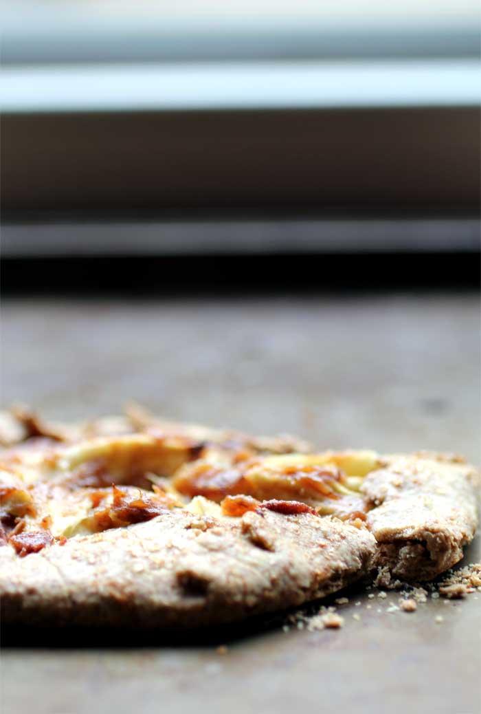 Leftover Dough Caramel Apple Galette // The Pancake Princess