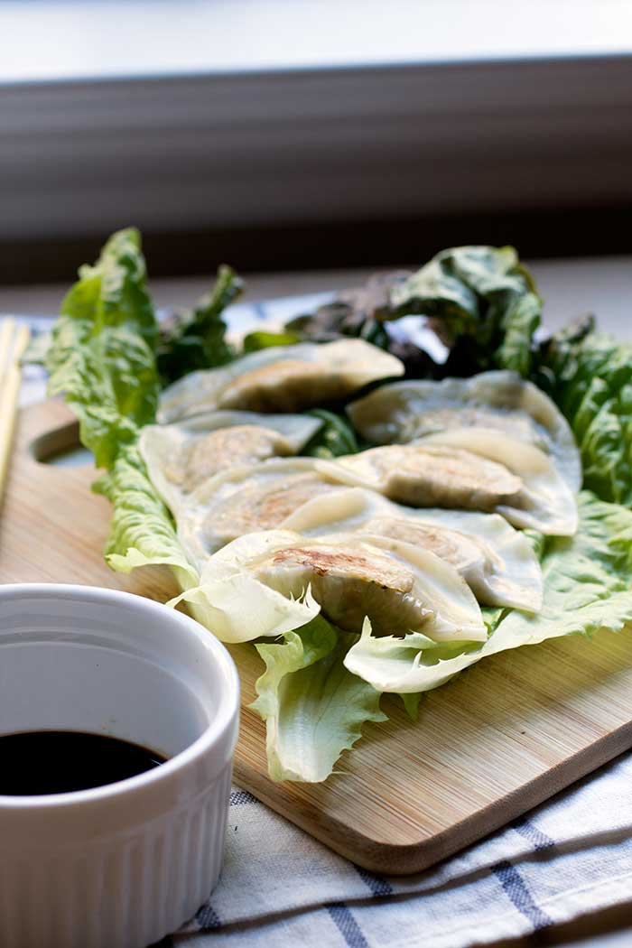 Tofu Kale Potstickers // The Pancake Princess