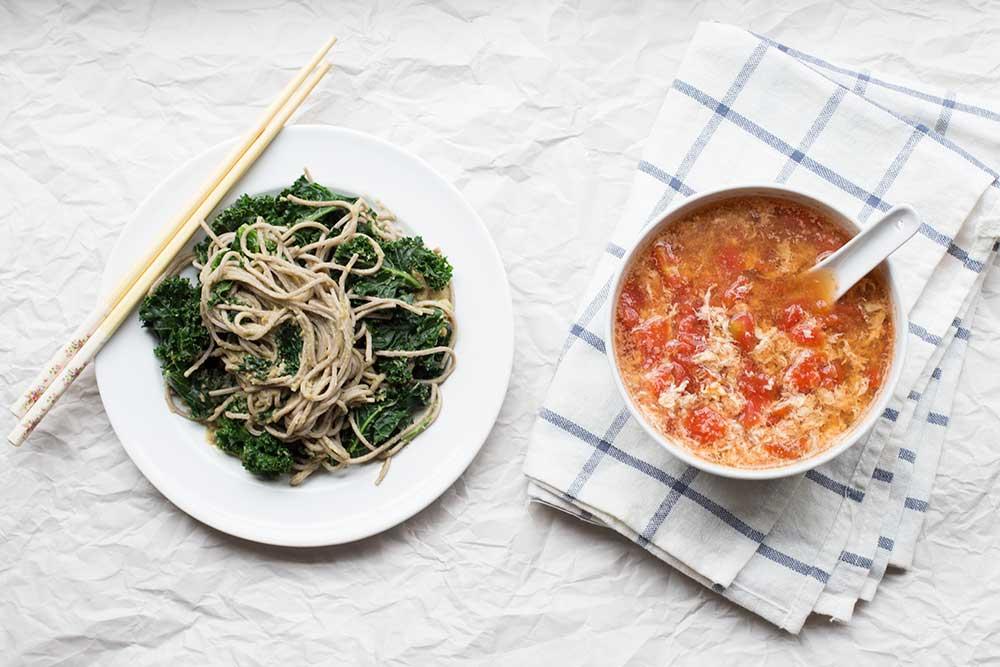 Miso Avocado Bowl + Egg and Tomato Soup // The Pancake Princess