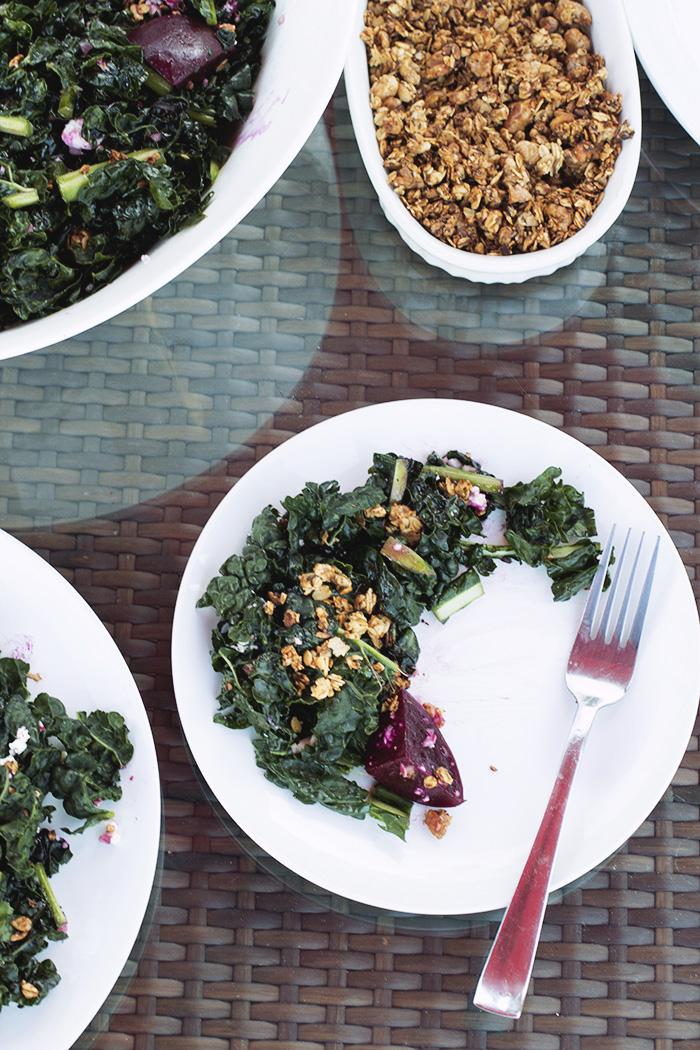 Baby beet salad with chevre and walnut granola // The Pancake Princess