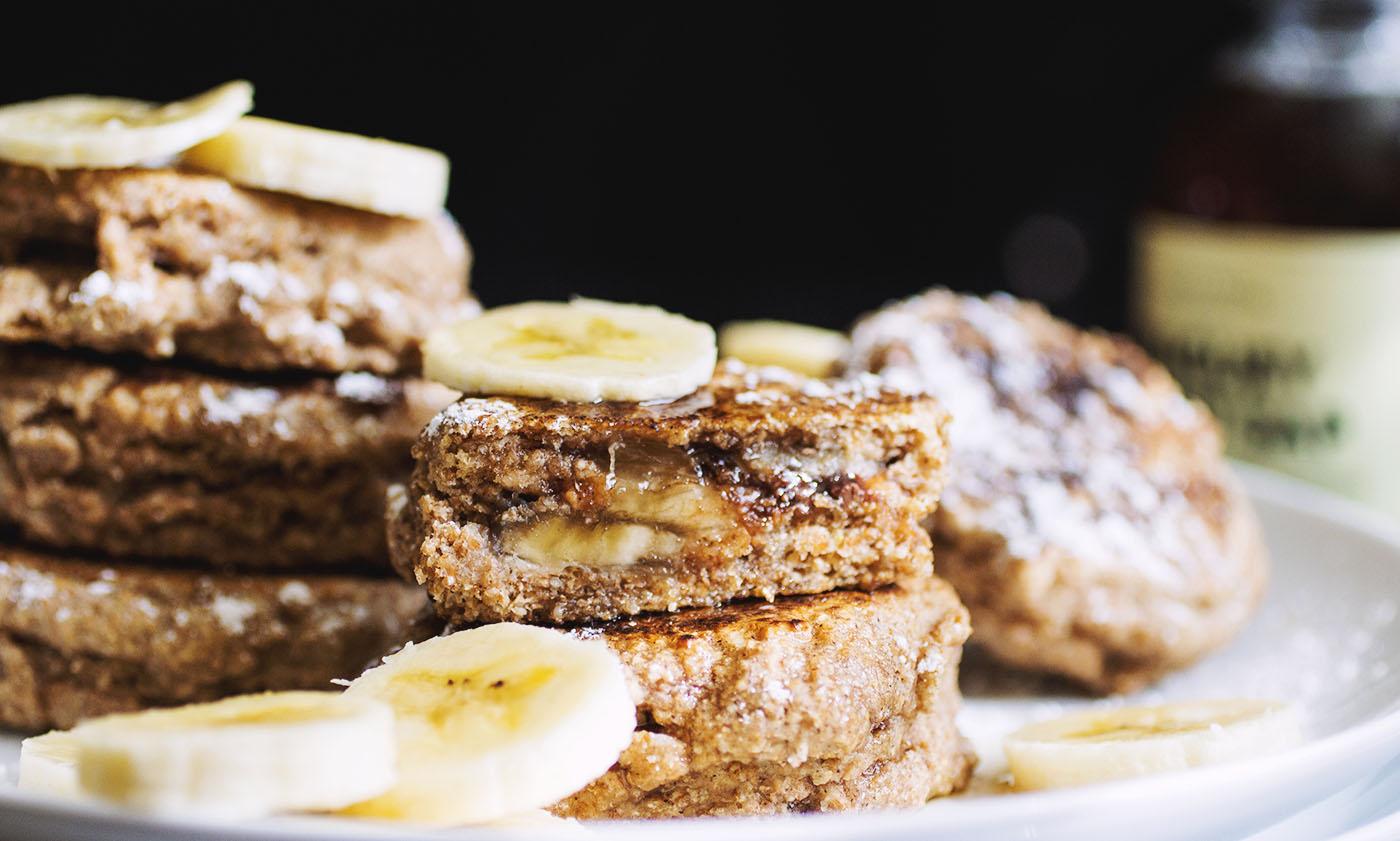 Whole Wheat Stuffed Pancakes (vegan) // The Pancake Princess