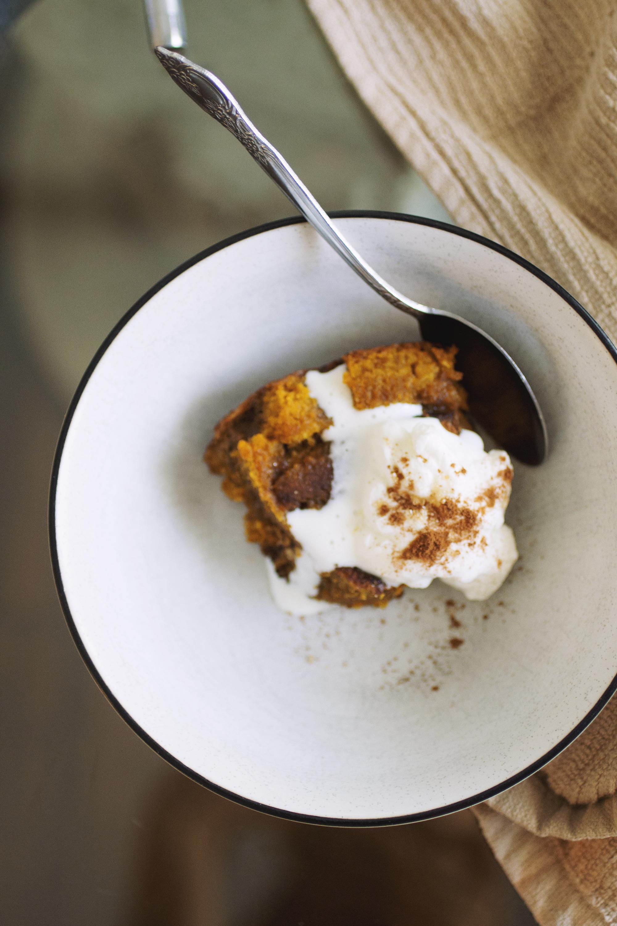 Stovetop Pumpkin Bread Pudding // The Pancake Princess