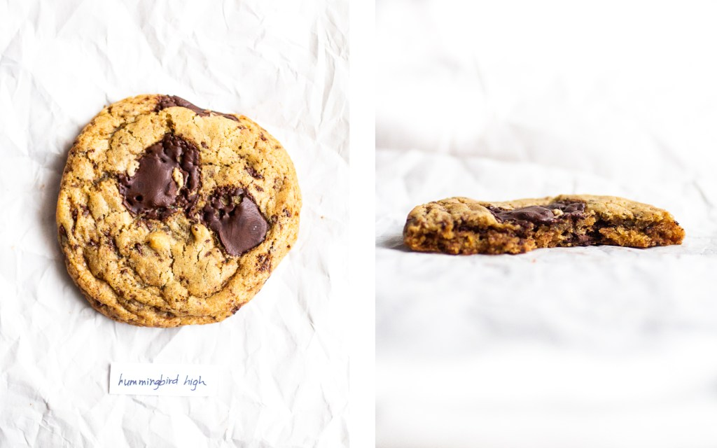 hummingbird high tahini vegan chocolate chip cookie