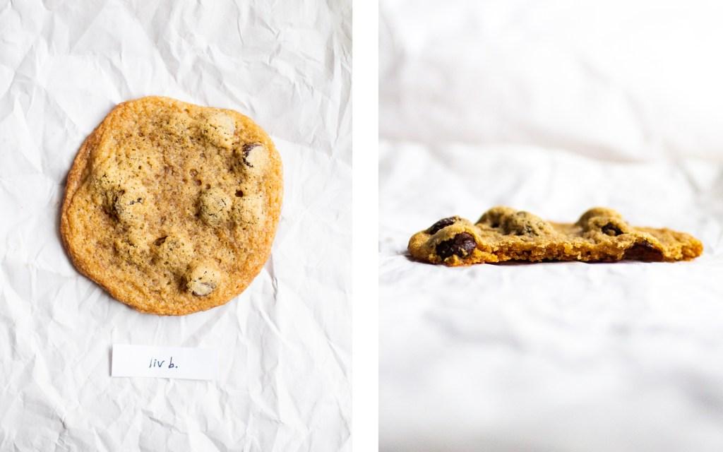 liv b vegan chocolate chip cookie