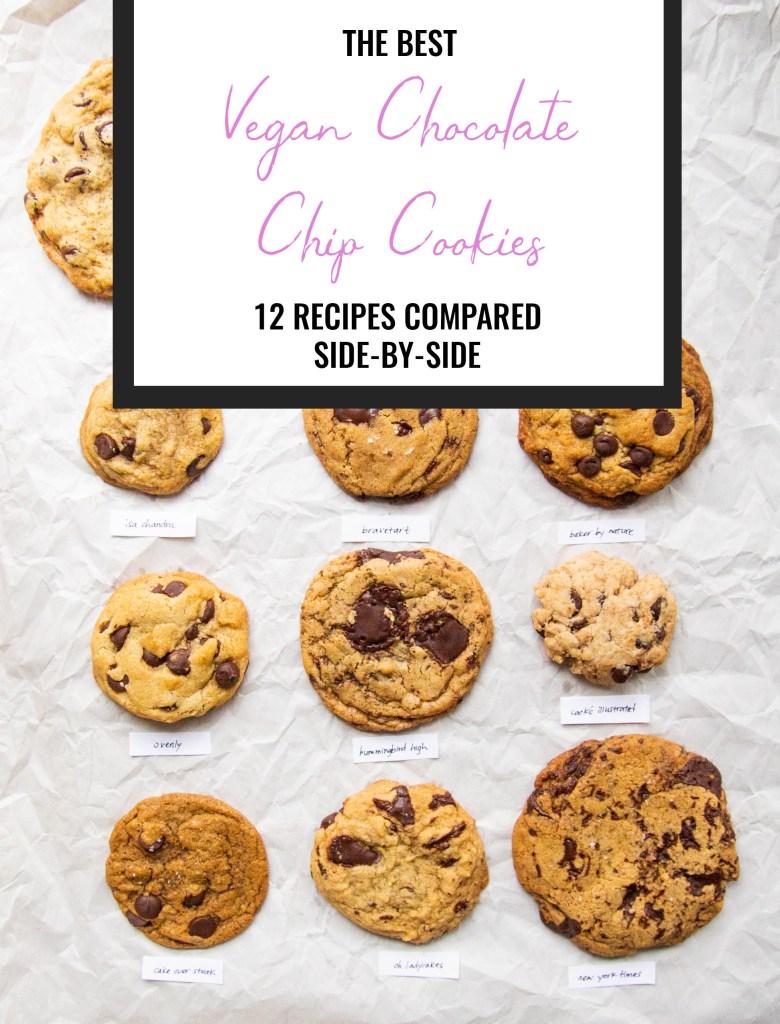 12 vegan chocolate chip cookies