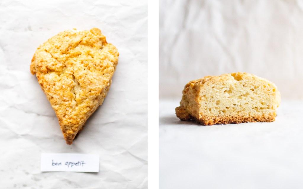 bon appetit scone cut in half