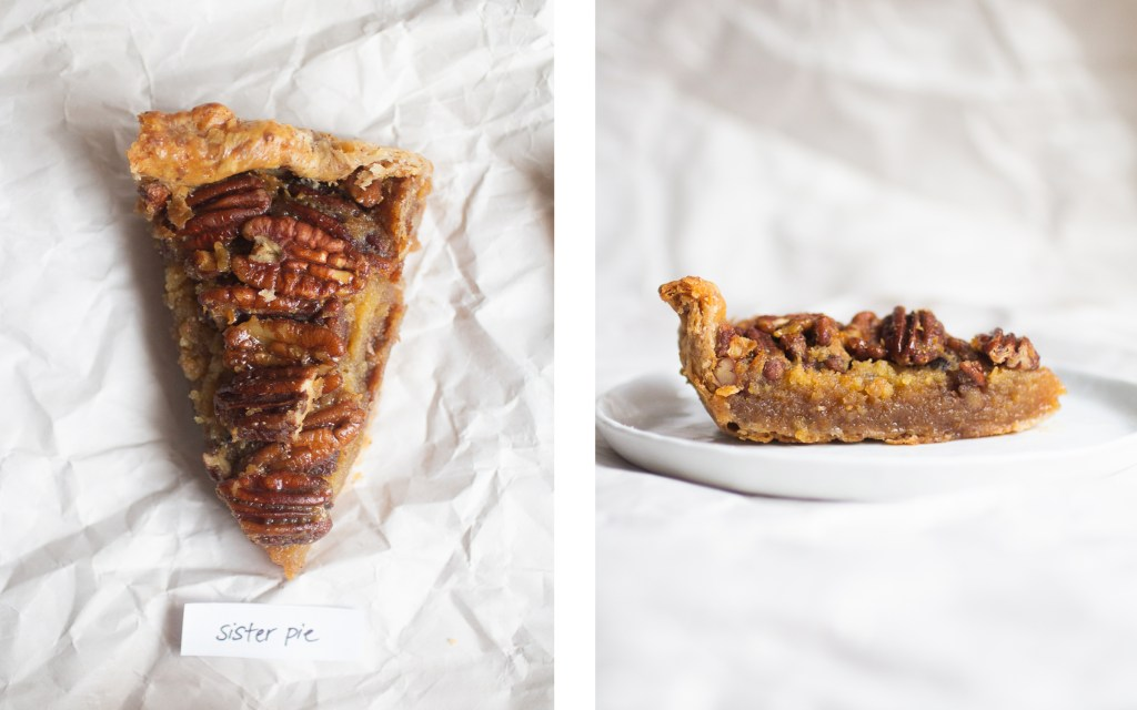 sister pie pecan pie