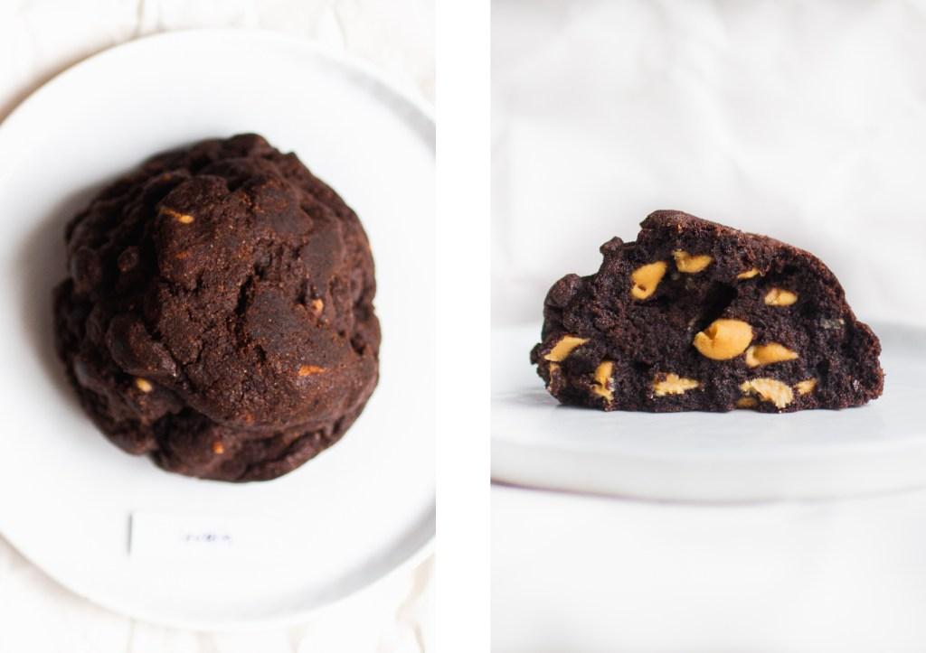 levain dark chocolate peanut butter cookie original