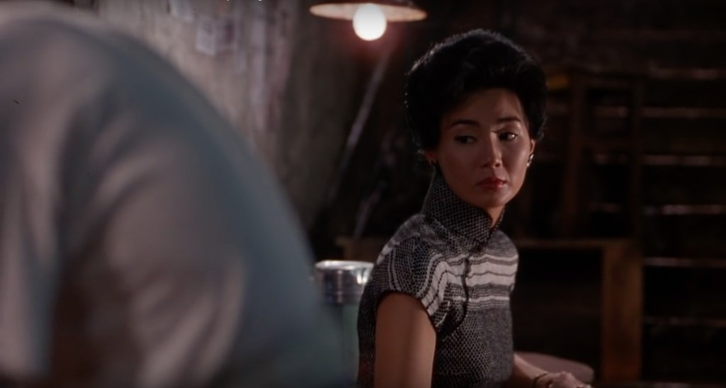 """Obsessed with """"In the Mood for Love""""? The black and white horizontal stripe qipao (cheongsam) from the complete list of 20 qipaos from the film. Click the link for more -"""