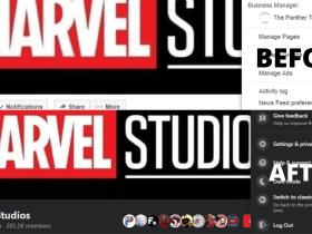 Facebook redesigned website with DarkMode