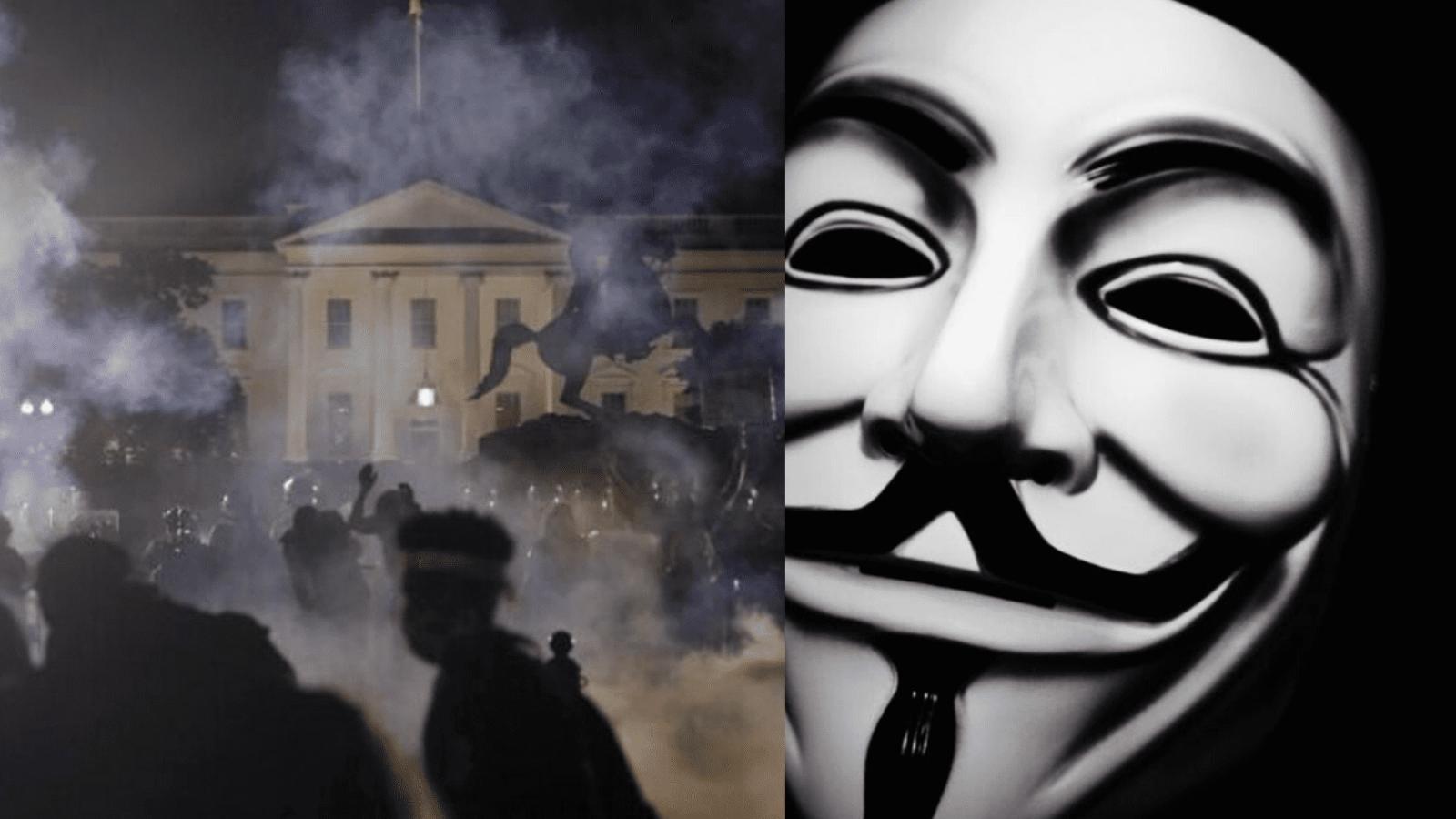 George Floyd's Death, Anonymous involvement, DC went Dark