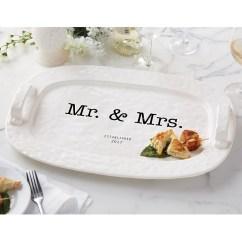 Kate Spade Kitchen Pink Rug Mud Pie Mr. And Mrs. Established 2017 Hostess Platter ...