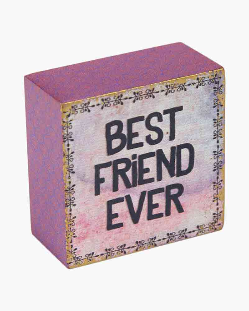 Natural Life Best Friend Ever Wooden Keepsake Box Sign