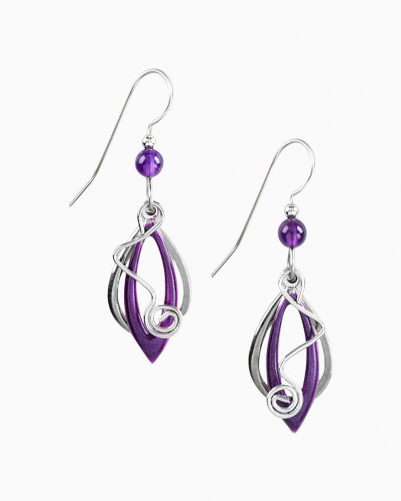specialty kitchen stores coffee decorations for silver forest purple marquee and coil earrings   the paper ...