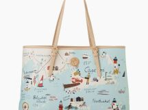 Spartina 449 Northeastern Harbors Map Tote Bag | The Paper ...