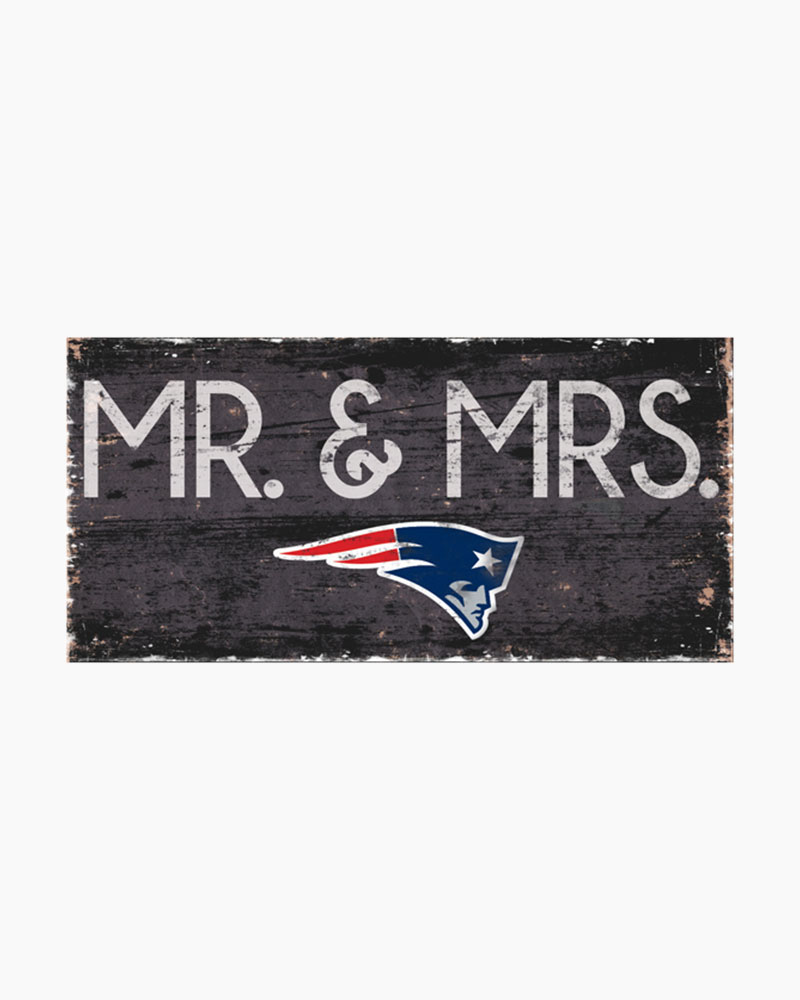 Fan Creations New England Patriots Mr And Mrs Wooden