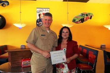 Capt. Steve Banta and Melanie Hambrick