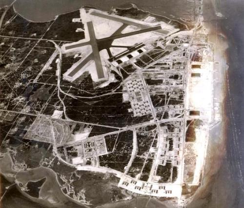An aerial view of Naval Air Station (NAS) Corpus Christi, Texas, as it appeared on January 27, 1941, seventy-two years ago today. The air station was commissioned in March 1941.