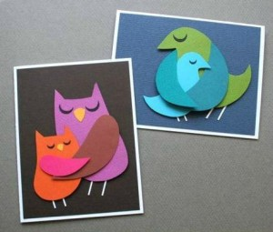 bird paper mothers day card