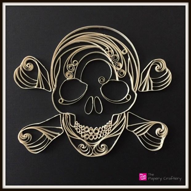 Skull and Crossbones Quilling