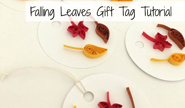 How to create Autumn Leaf Gift Tag