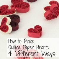How to Make Quilling Paper Hearts : 4 Different Ways!