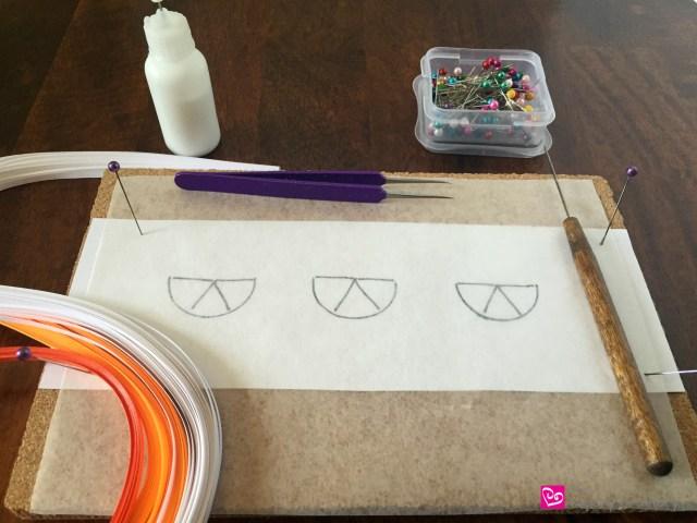 QuillingCitrusTemplate How to Make Quilling Paper Citrus Slices