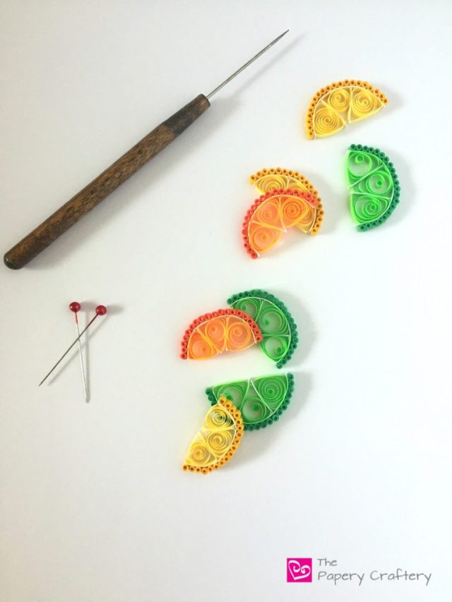 QuillingPaperCitrusWedges How to Make Quilling Paper Citrus Slices