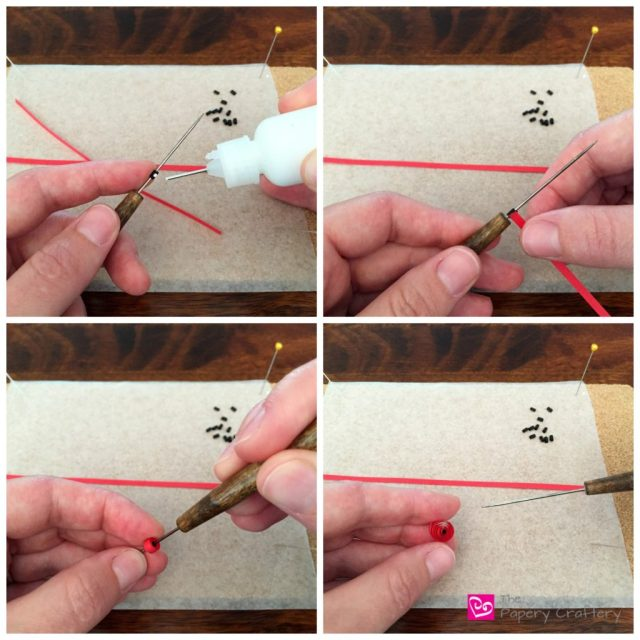 How to make quilling paper ladybugs - Quilling Paper Ladybugs