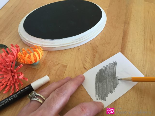 prepping-chalkboard-art Chalkboard Decor with Quilling Paper Art