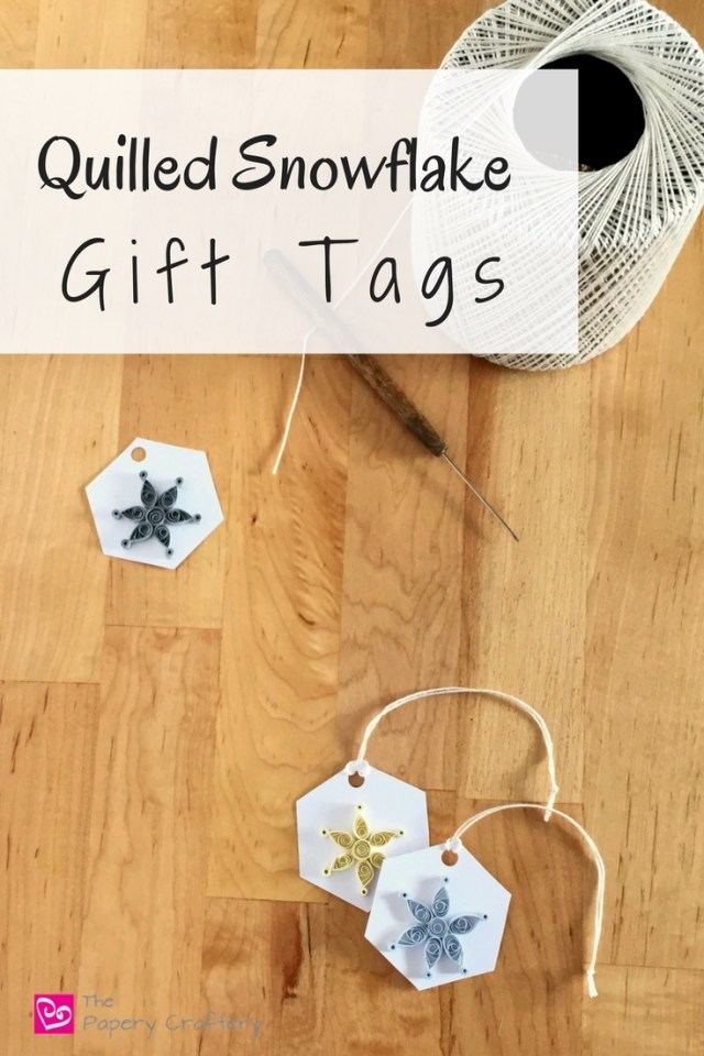 Quilled Snowflake Gift Tags || www.thepaperycraftery.com