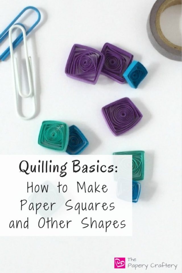 Learn how to make quilling paper squares and other angular shapes || www.thepaperycraftery.com