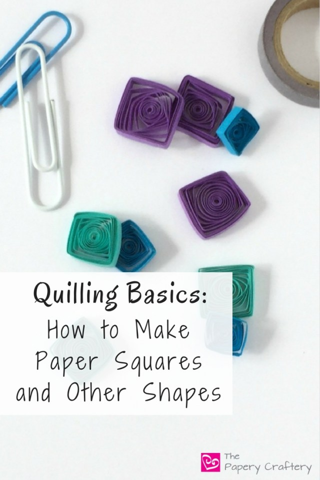 How to create quilling paper squares for the beginner quilling artist