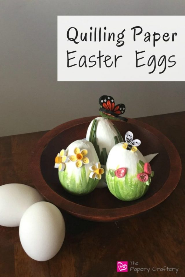 Quilling Paper Easter Eggs || www.thepaperycraftery.com
