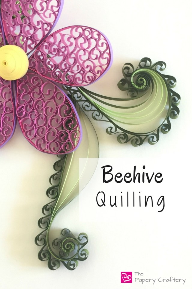 Beehive Quilling ~ Add some lightness and dimension to your quilling projects with this simple, but impressive technique! || www.thepaperycraftery.com