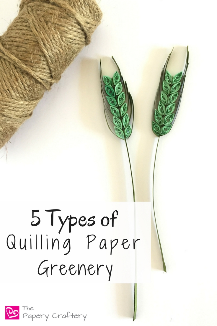 5 Types of Quilling Paper Greenery ~ Simple leaves, ferns and other types of greenery to add a little style and realism to your quilling paper flower designs    www.thepaperycraftery.com