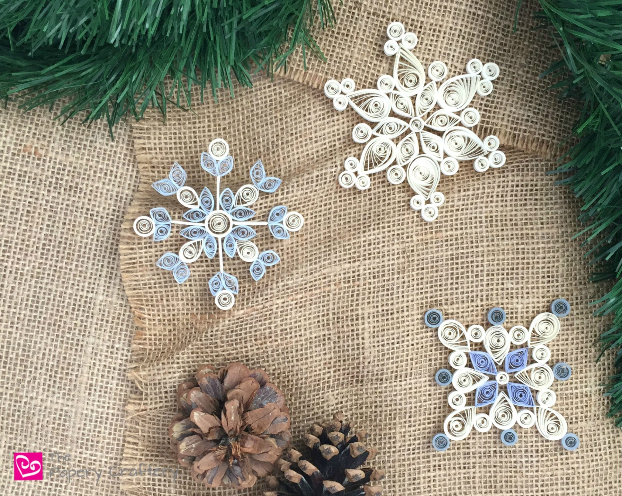 How To Make Quilling Paper Snowflakes